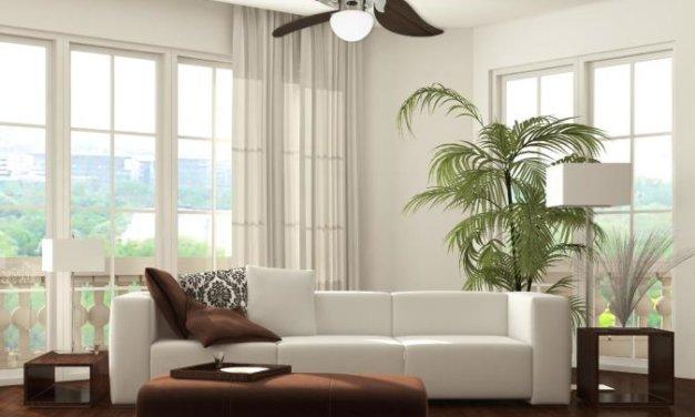 Dodejte místnosti šťávu designovým stropním ventilátorem