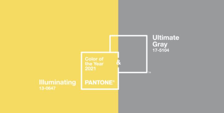 barvy roku 2021. šedá a žlutá